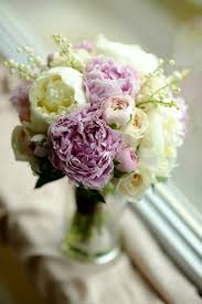 The Pink Peonies by Wedding Bouquet Featuring Pink Peonies Pink Ranunculus White