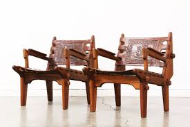 Leather Arm Chairs Ecuadorian Safari Style Leather Arm Chairs By Angel Pazmino
