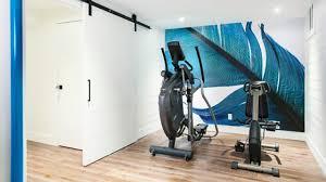 airy basement home gym best home gym decorating design ideas