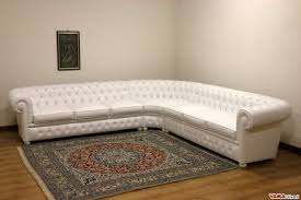 White Leather Chesterfield Sofa Chesterfield Leather Corner Sofa With Corner