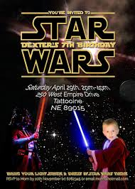free kids party invitations star wars party invitation edit