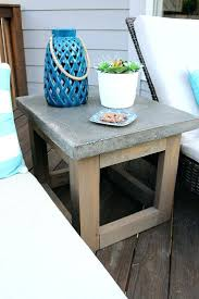 concrete and wood outdoor table side table side patio table concrete wood outdoor walmart small