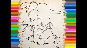 dumbo the elephant coloring pages youtube
