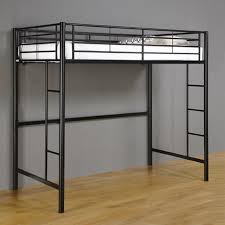 black metal twin loft bed with desk sunset black metal twin loft bunk bed walker edison btolbl