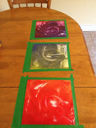 the hippie housewife mess free finger painting