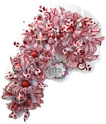 video tutorial deco mesh candy cane wreath at www