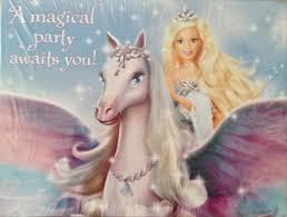 barbie magic pegasus u2013 invitations 8 ct ipartybox