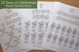 12 christmas coloring pages mamas learning corner