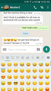 ios emoji keyboard for android water gun whatsapp brings ios 10 s emojis to its android beta