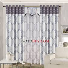 Blackout Curtains Gray Modern Geometric Patterns Grey Polyester Blackout Curtains Buy