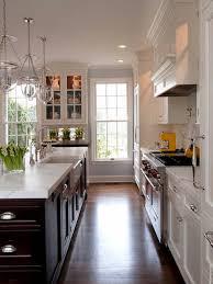 Kitchens White Cabinets Two Tone Kitchen With White Cabinets And Espresso Dark Island W
