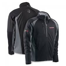 racing zip performance jacket black