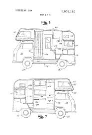 volkswagen van drawing patent drawing rv pinterest volkswagen bus side wall and