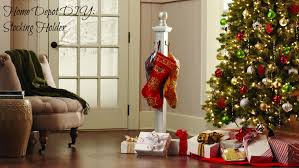 Christmas Decorations Home Depot by Diy Stocking Holder With The Home Depot Domestic Charm