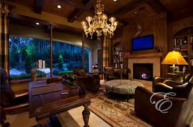 Tuscan Home Interiors Upscale Tuscan Mediterranean Home Office Houston By