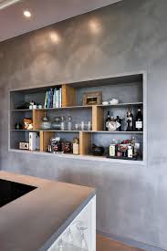 béton ciré pour mur de cuisine matières décoratives