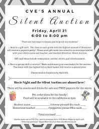 silent auction and movie night u2013 cve pta