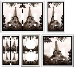 eiffel tower paris france home decor switch or outlet cover v191