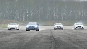 bmw vs audi race porsche panamera vs bmw m5 jaguar xfr mercedes e63 amg drag
