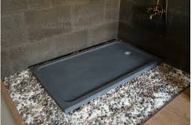 60 x34 granite shower base gray for bathroom quasar