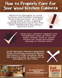 how to properly care for your kitchen cabinets visual ly
