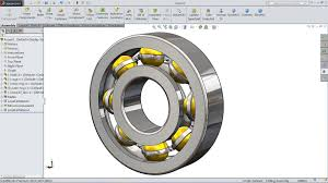 solidworks tutorial design and assembly of ball bearing in