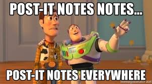 Post It Meme - post it notes notes post it notes everywhere toy story meme