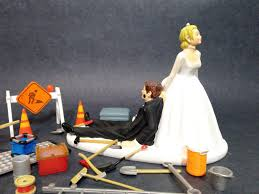 jeep cake topper no construction work funny wedding cake topper bride dragging