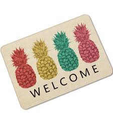 Pineapple Decorations For Kitchen by Aliexpress Com Buy Fruits Watermelon Pineapple Rubber Doormat