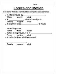worksheets on force and motion free worksheets library download