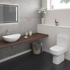 Contemporary Bathroom Suites - antonio modern bathroom suite close coupled toilets modern