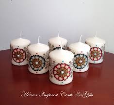 candle party favors set of 6 candles indian wedding favors henna candles party