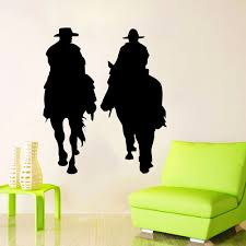 high quality home decor cowboy buy cheap home decor cowboy lots zuczug 55 64cm equestrian wall stickers personality wall decals wild horse west cowboy mustang 3d