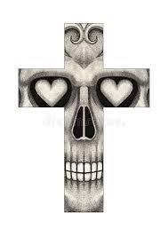art skull cross tattoo stock illustration image of drawing