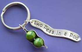 peas in a pod keychain two peas in a pod charm keychain