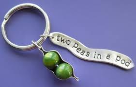 2 peas in a pod keychain two peas in a pod charm keychain