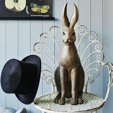 home accessories sitting hare animal ornament homegirl