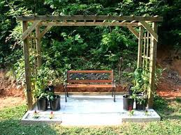 Pergola Free Plans by Arbor With Seat Plans Garden Arbor Bench Free Plans Corner Arbor