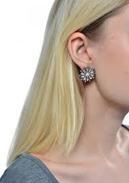 dainty floral statement stud earrings happiness boutique