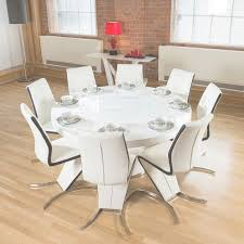 Lazy Susan Dining Room Table White Gloss Dining Table Lazy Susan 8 White Black Z Chairs