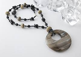 black agate necklace images Beaded necklaces by ciel creations jpg