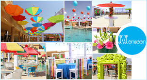destination wedding in jaisalmer a pool party themed monsoon with