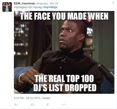 Top 100 Internet Memes - the 12 best reactions to the dj mag top 100