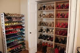 Shoe Closet With Doors Shoe Rack Surprising Wooden Shoe Storage Rack Pictures
