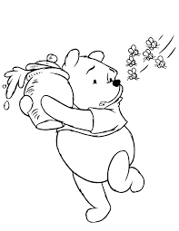 pooh bear honey bees coloring u0026 coloring pages