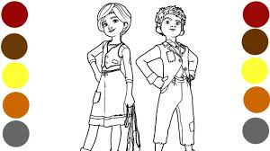 ballerina and victor coloring pages for children art videos for