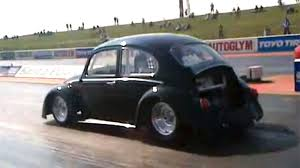 volkswagen bug black black current electric drag beetle smashes veyrons world records