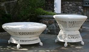 White Wicker Armchair Saratoga Collection Anacara Company