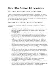 Accounting Assistant Job Description Resume by Office Assistant Job Description Resume 2016
