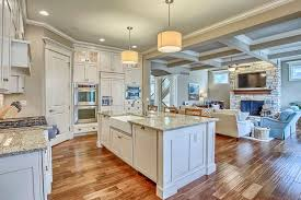 Ceiling Fans For Kitchens With Light Traditional Kitchen With Built In Bookshelf U0026 Stone Fireplace In